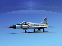 3d model f-102 convair air force