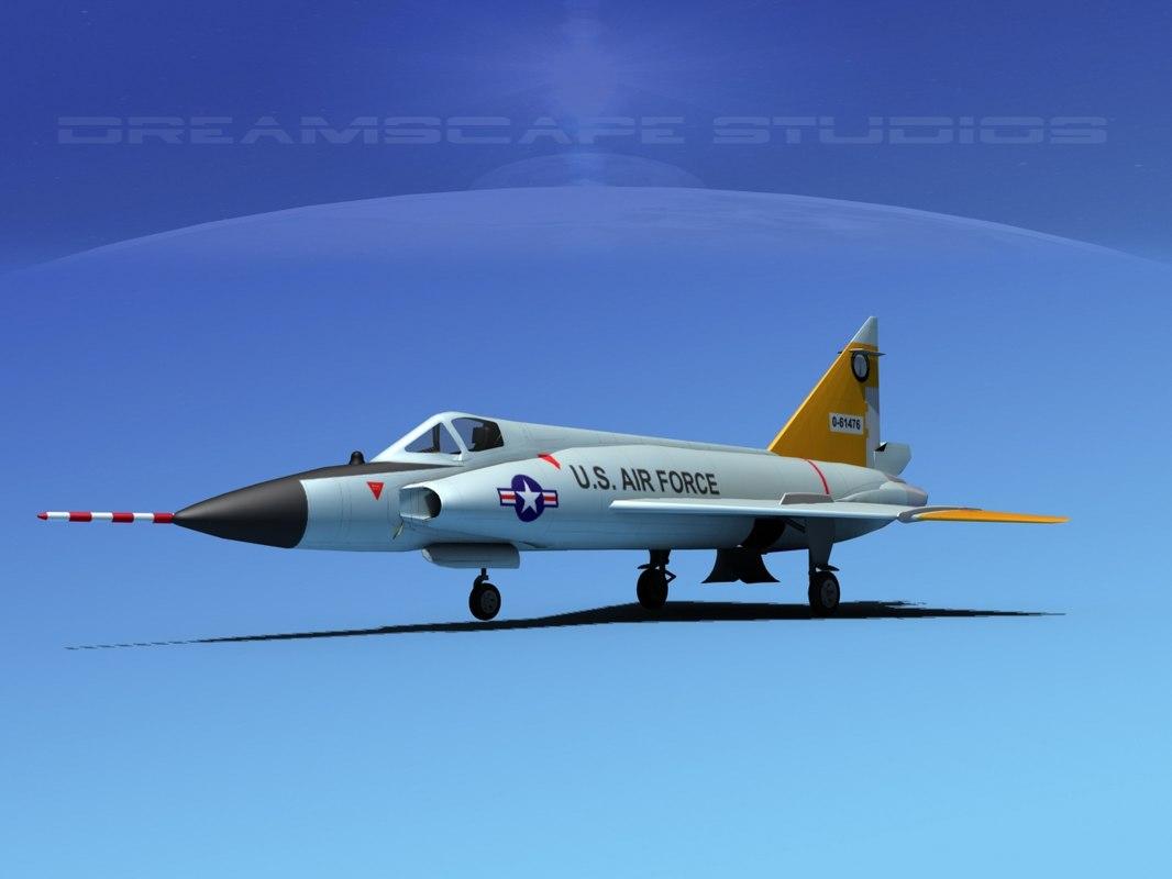 f-102 convair air force obj