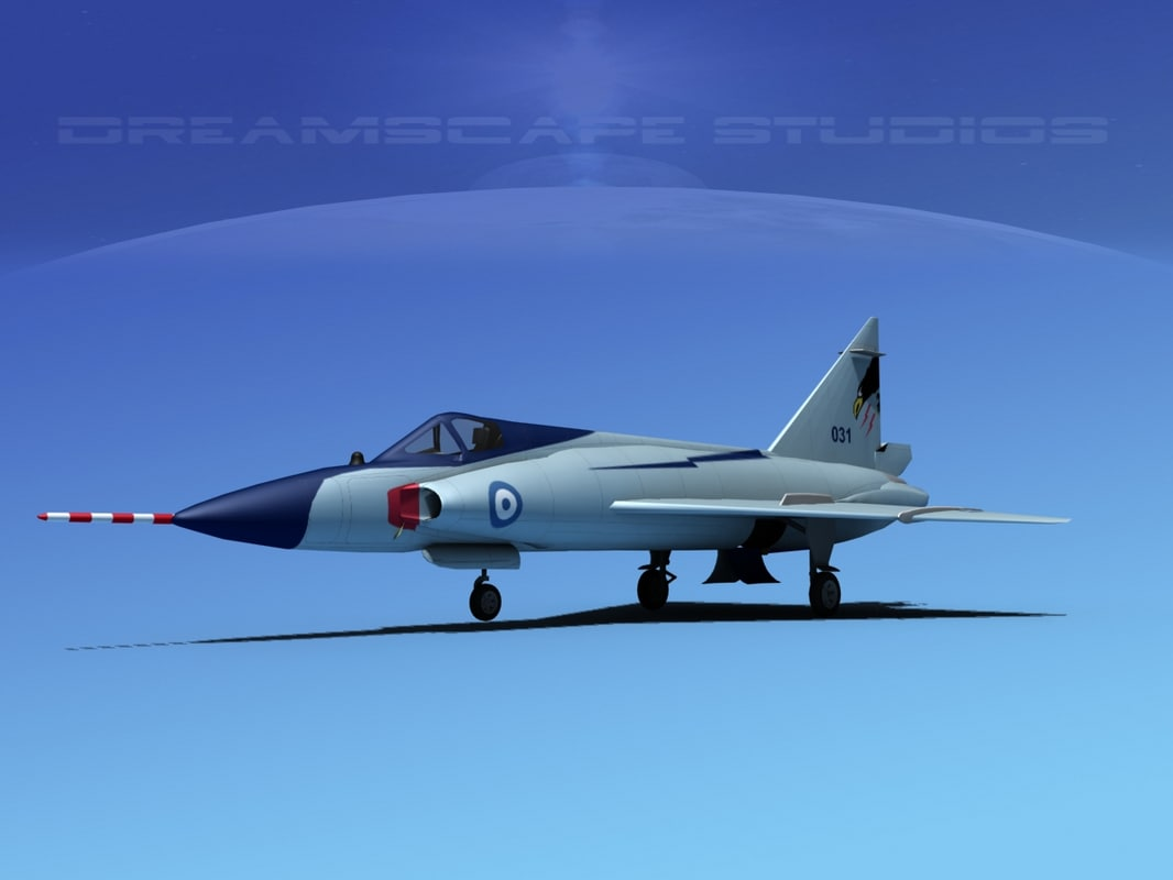 f-102 convair air force 3d max