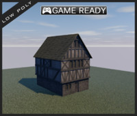 Low Poly Medieval House 1