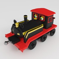 toy locomotive obj