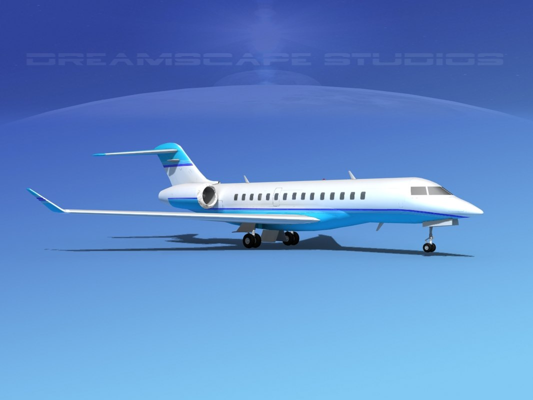 3d model of global express 5000