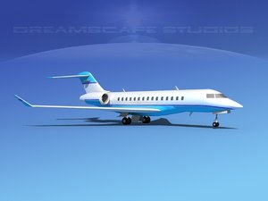 3d model of global express 5000