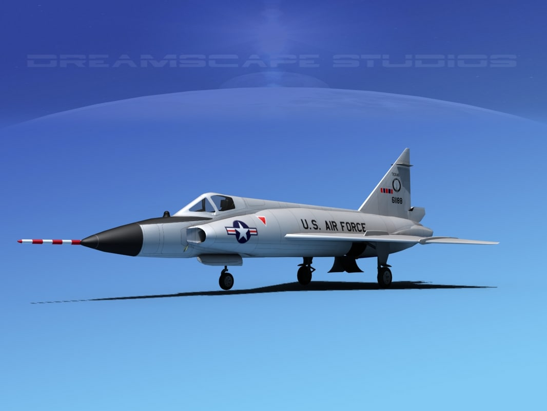f-102 convair air force 3d dwg