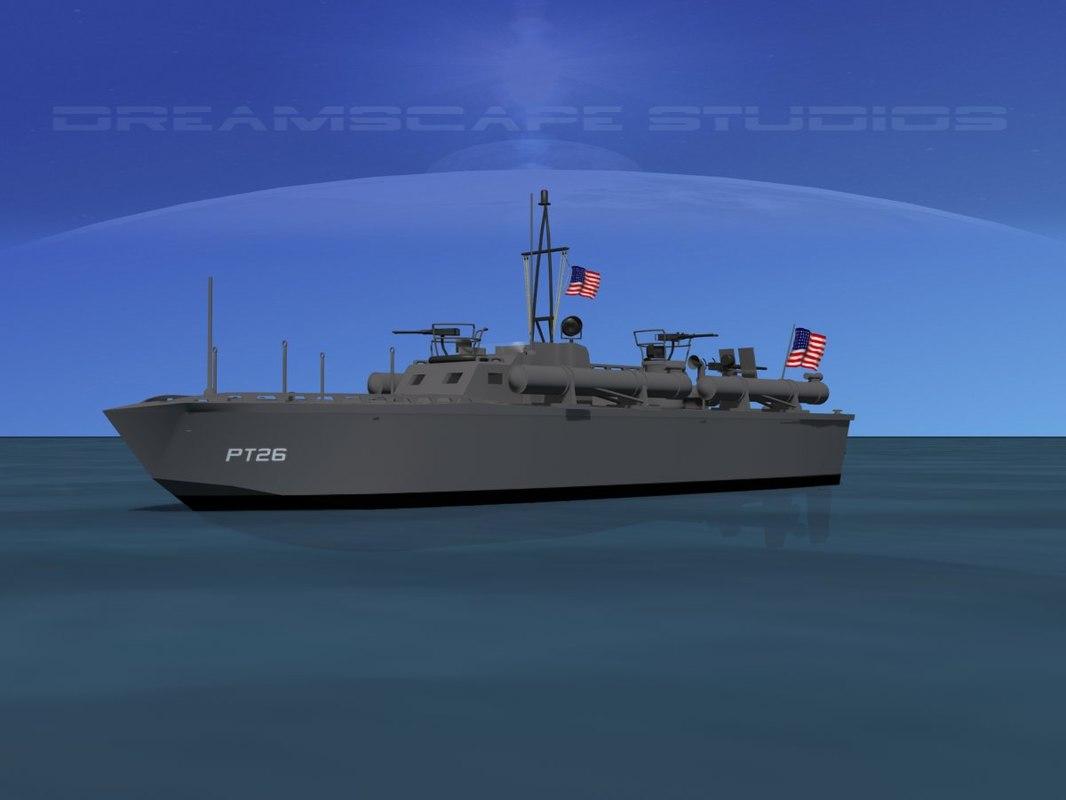 3d boat pt elco