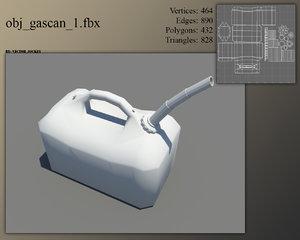 plastic gas cans 3d model