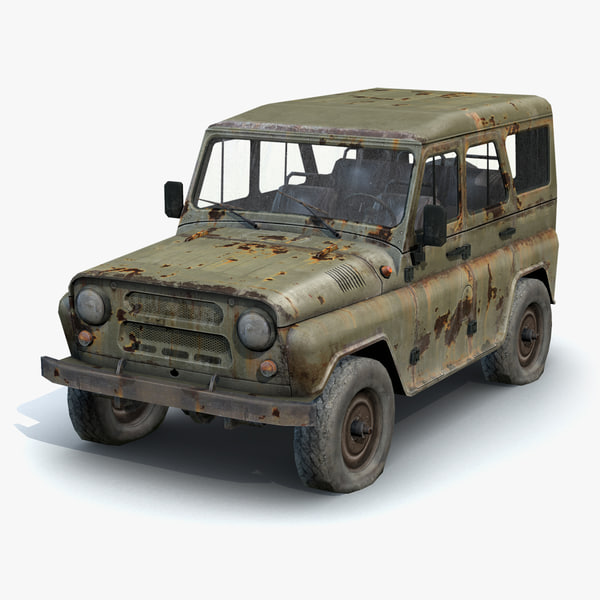 3dsmax russian military uaz-3151