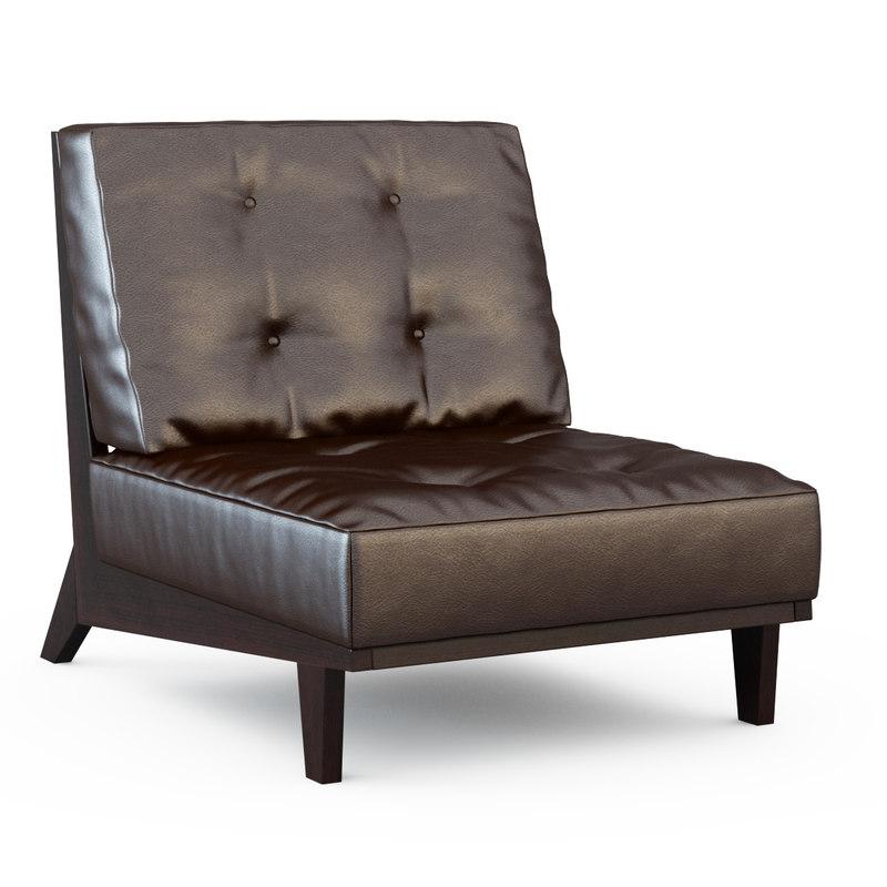 3d armchair 3887 zero