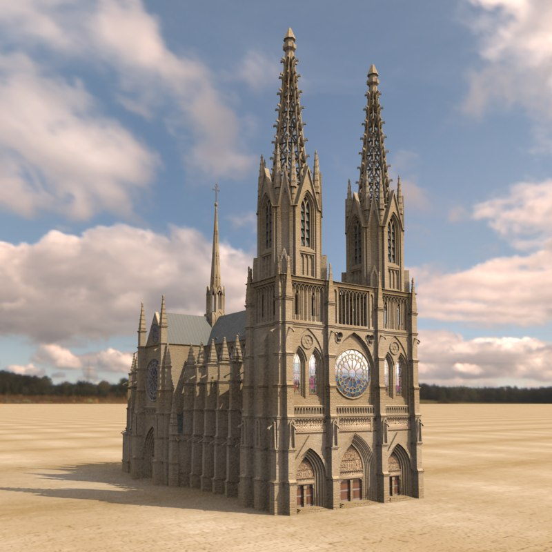 3d max gothic cathedral