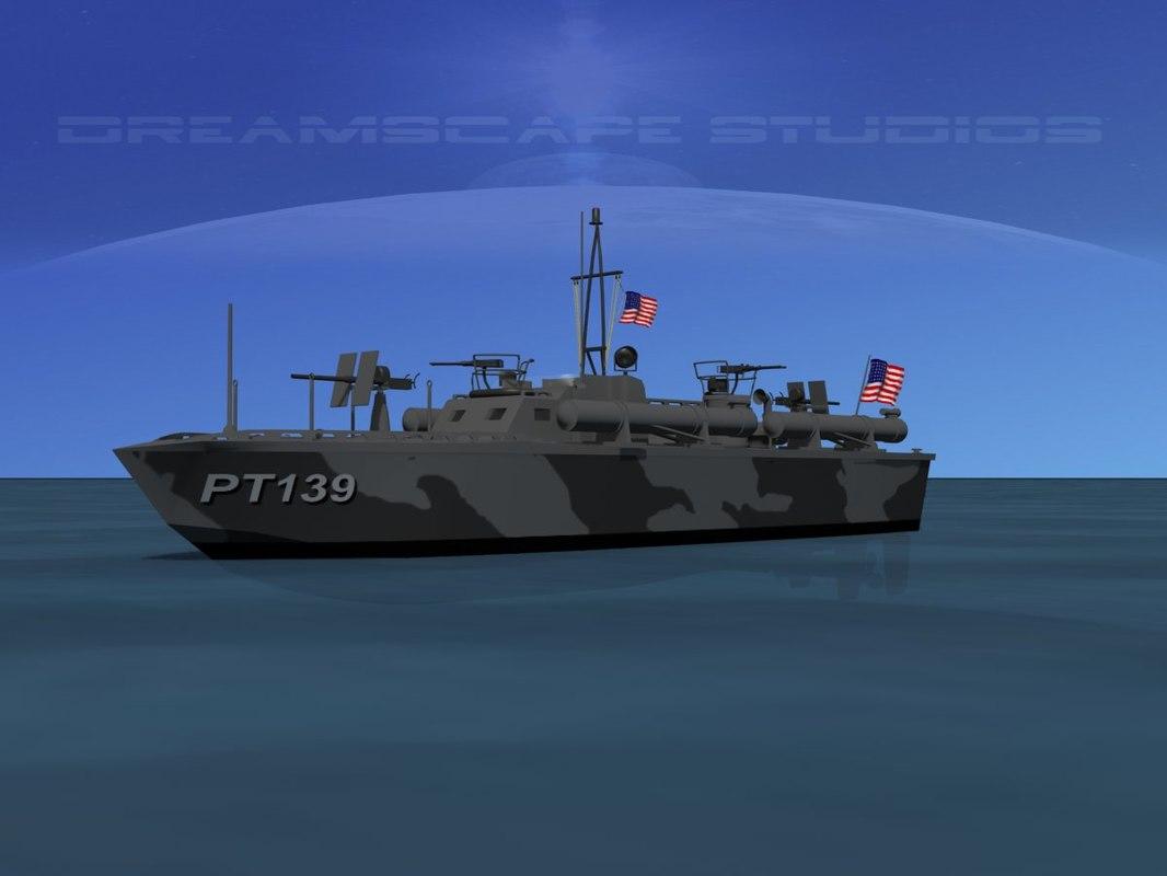 3d model boat pt elco