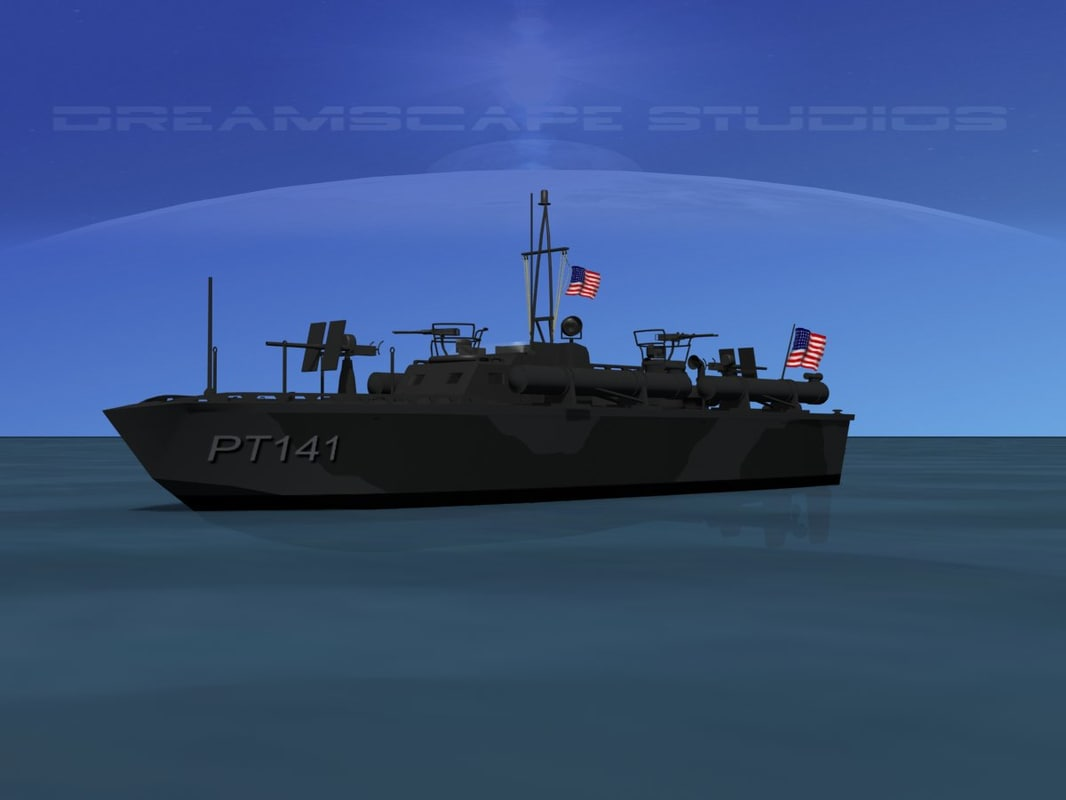 3d model of boat pt elco