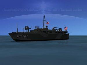 3d model of boat pt elco