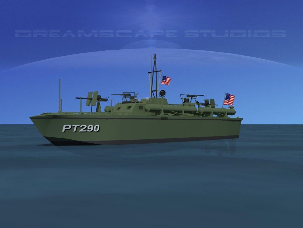 boat pt elco 3d max