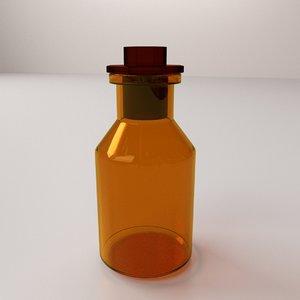 3d model of reagent bottle
