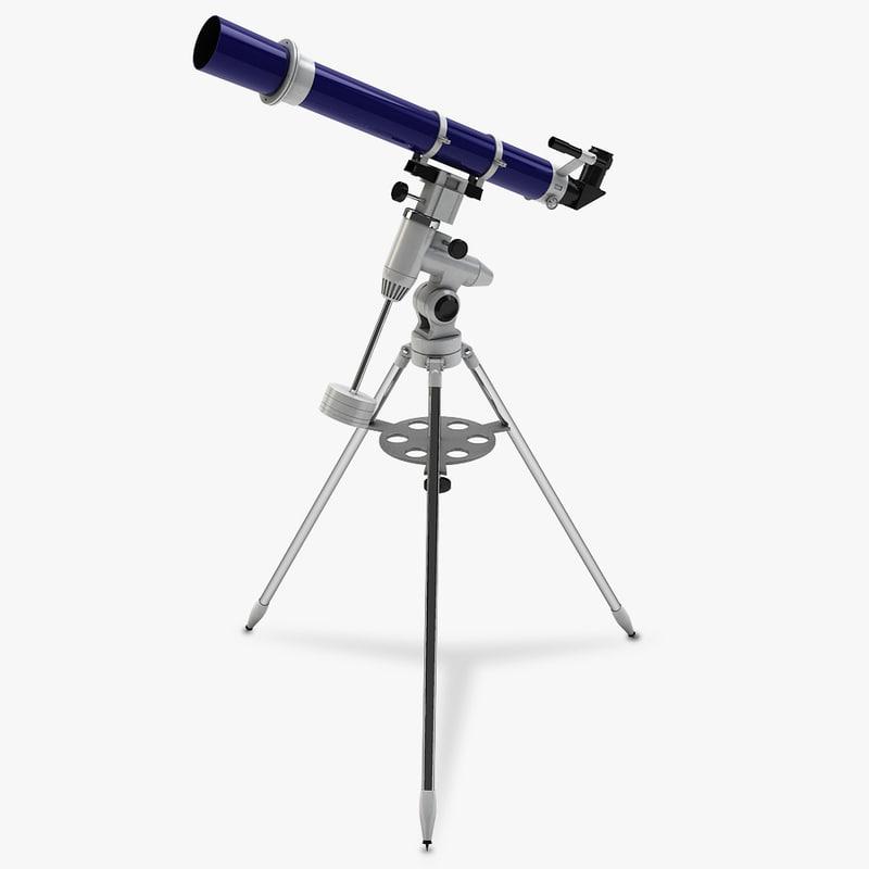 telescope tripod 3d model