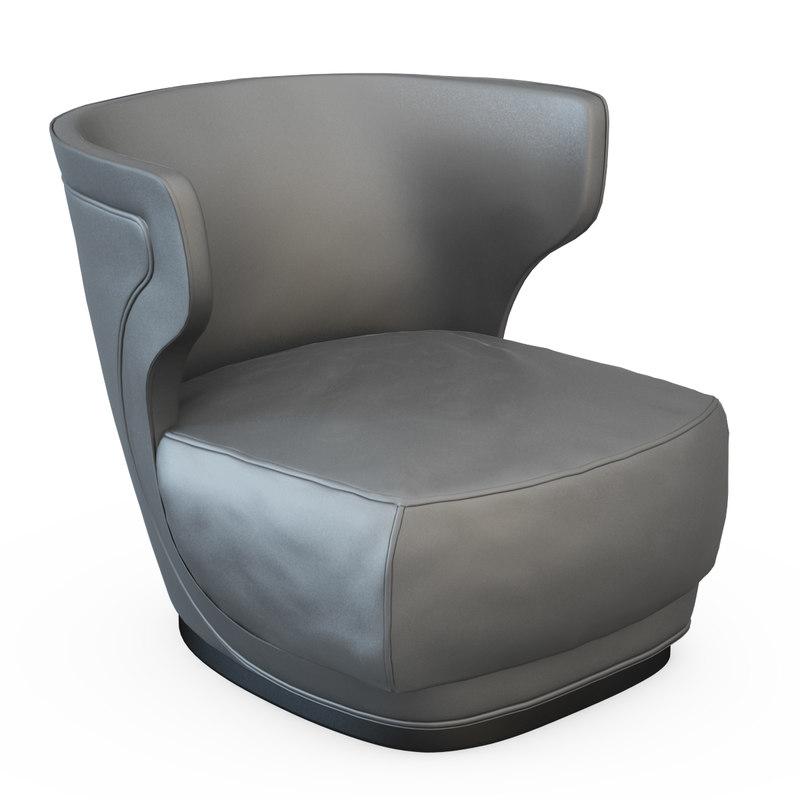 3d armchair etiennee model