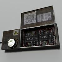 circuit breaker fuse box 3d model