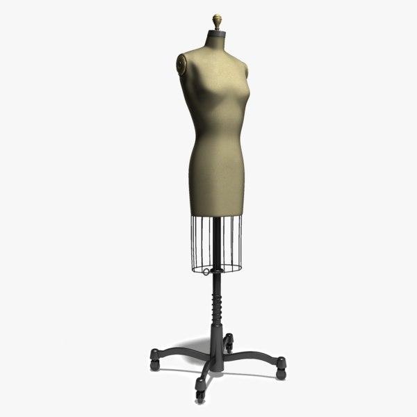 dress form 3d obj