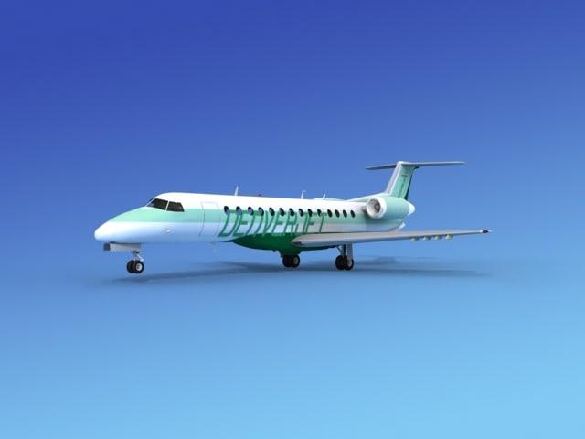 3d embraer erj jets model