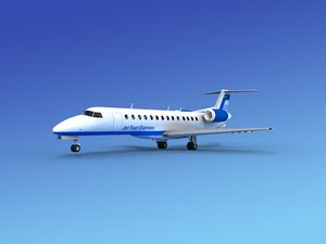 3d model embraer erj jets