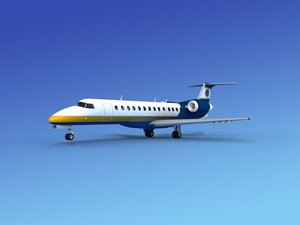 embraer erj jets 3d model