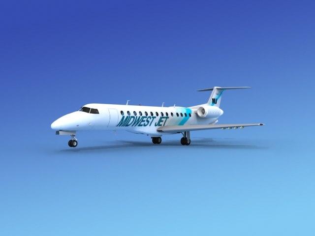 embraer erj jets 3d model