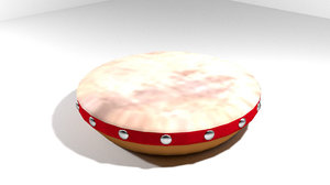 kompang musical instrument 3d model