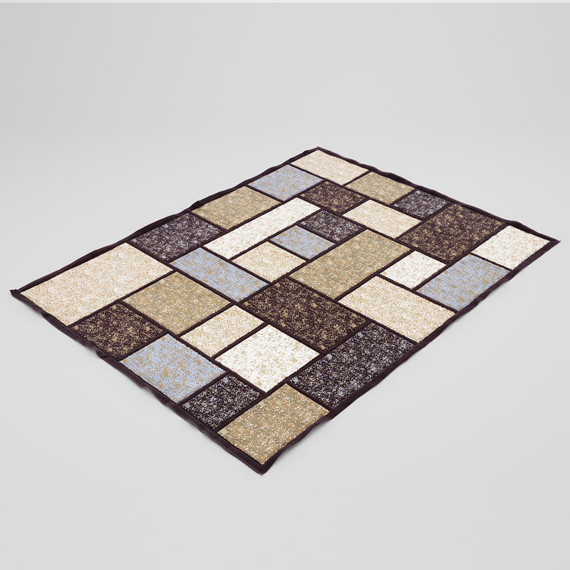 brown rug 3d max