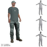 3d rigged soldier s hat