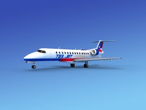 3d model of embraer erj jets
