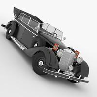 3d mercedes car model
