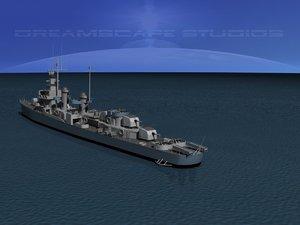3d anti-aircraft fletcher class destroyers