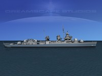 3d model anti-aircraft fletcher class destroyers