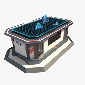 max futuristic small table