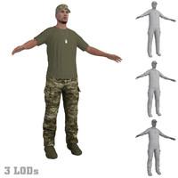 soldier 3 3d model