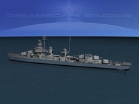 3d anti-aircraft fletcher class destroyers model