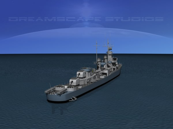 anti-aircraft fletcher class destroyers 3ds