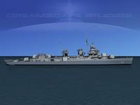 3d model anti-aircraft fletcher class destroyers