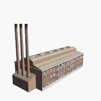 3d factory building