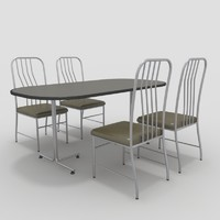 table chairs-7 chairs 3d max