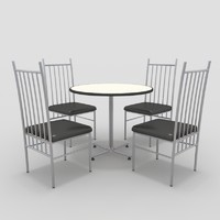 3ds table chairs-2 chairs