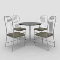 3ds table chairs-8 chairs