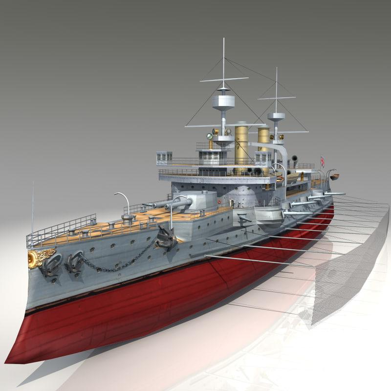 hms triumph battleship 3d max