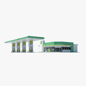 bp gas station 3d 3ds