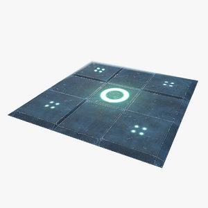sci-fi floor wall - obj free