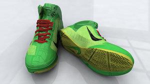 3d model nick lebron shoe