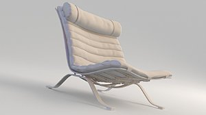 chair modeled seams 3D model