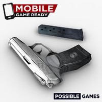 Mobile Game Ready Pistol with Clip