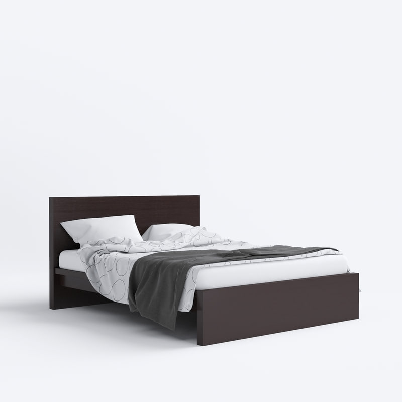 Max malm bed ikea for Cama 3d max