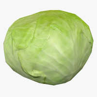 Low Poly Cabbage - Game Ready